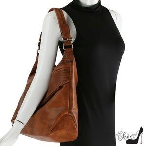 My Bag Lady Online Bags - Hobo Handbag w Asymmetrical Zippered Compartment